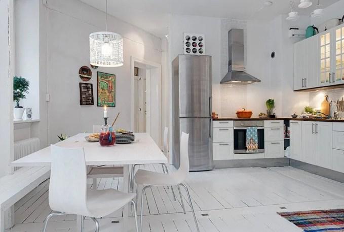 Cool White Kitchen