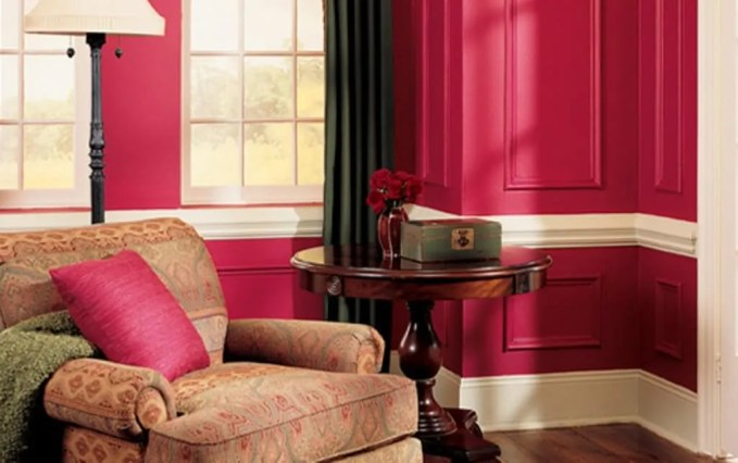 Hot Pink Living Room