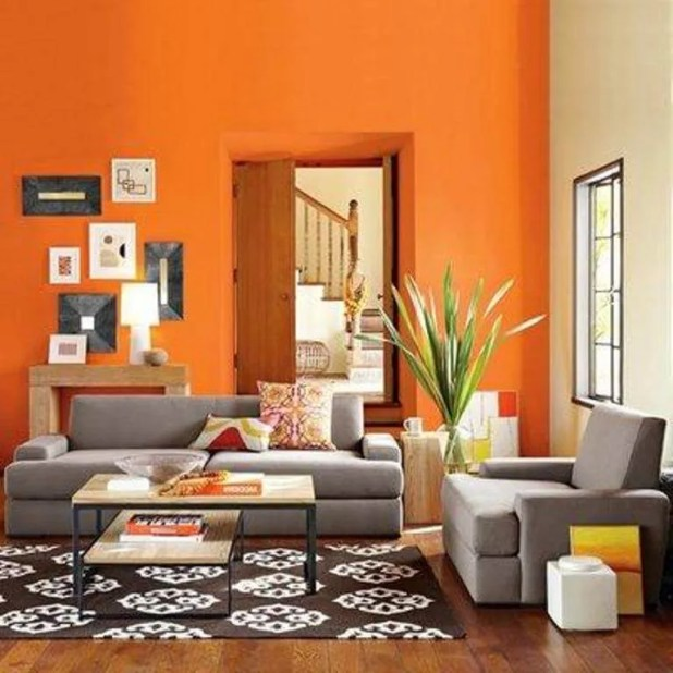 Lively Orange Living Room