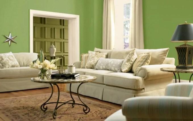 Relaxing Green Living Room