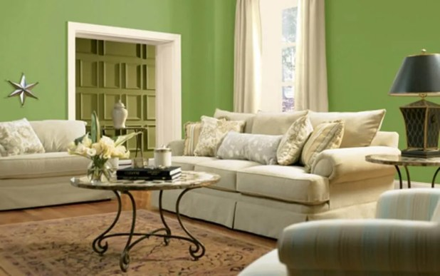 Relaxing Green Living Room