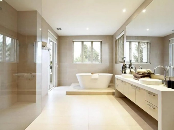 Sleek Serene Bathroom
