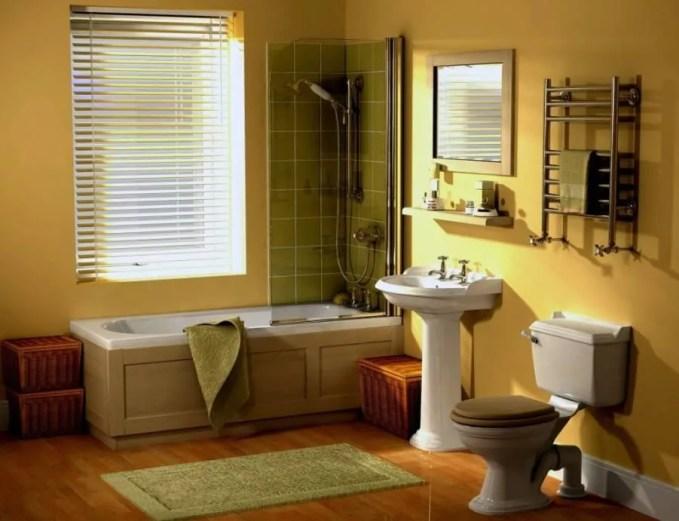 Casual Yellow Bathroom