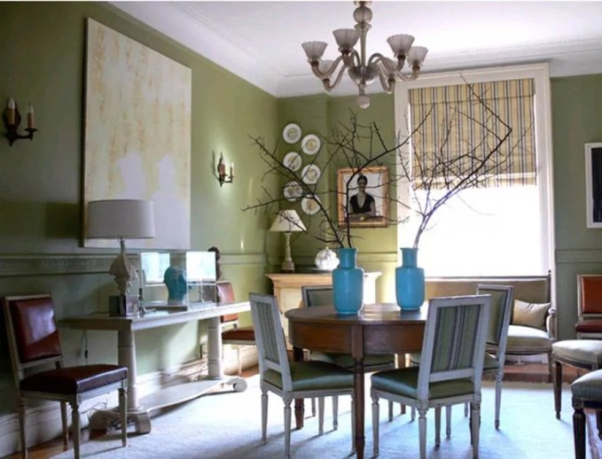 Chic Green Dining Room
