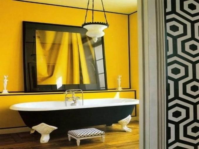 Contemporary Yellow Bathroom