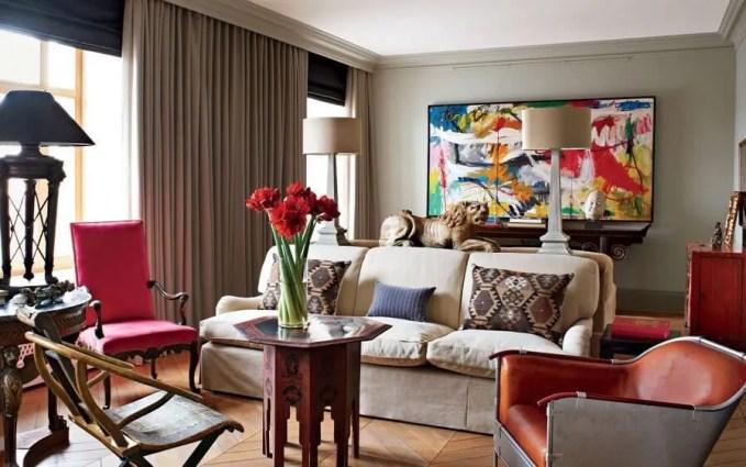 Elegant Eclectic Living Room