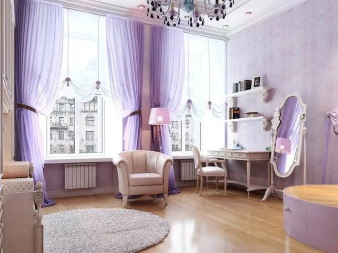 Elegant Purple Living Room