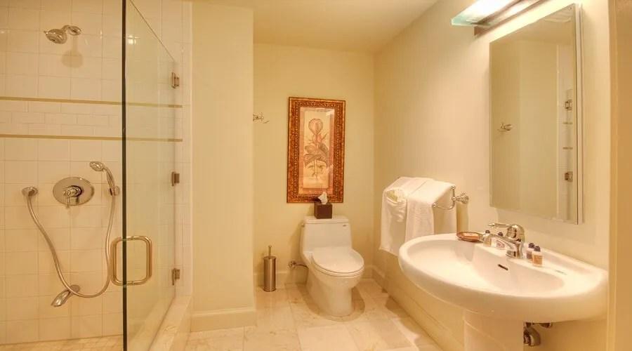 grey yellow living room design paint with dark furniture 10 bright bathroom interior ideas - ...
