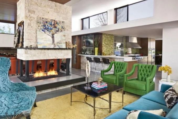 Open Plan Eclectic Living Room