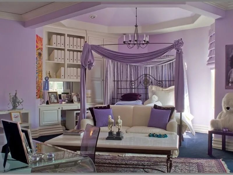 10 beautiful purple bedroom interior design ideas https for White and purple bedroom designs