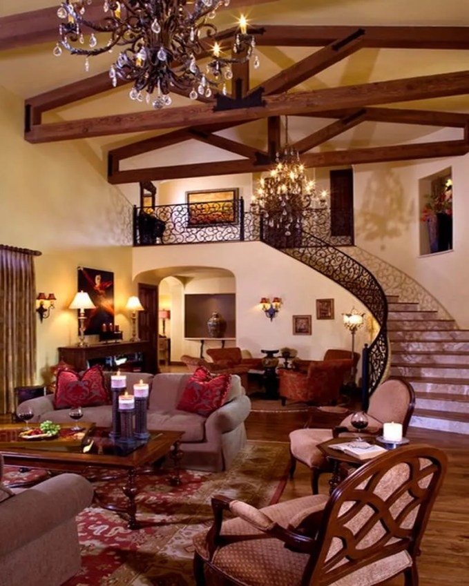 Awesome-Living-Room-Interior-with-Mediterranean-Home-Interior-Decor-Completed-with-Classic-Italian-Chandelier-Design-Ideas