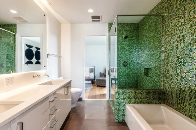Beautiful Green Bathroom