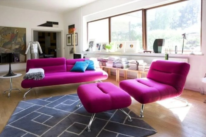 Bold Pink Living Room