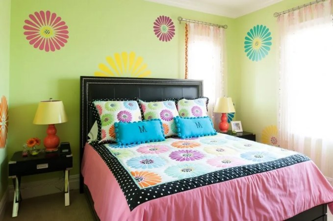 Lively Colorful Bedroom
