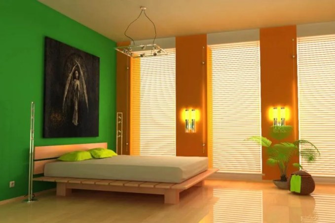 Modern Colorful Bedroom