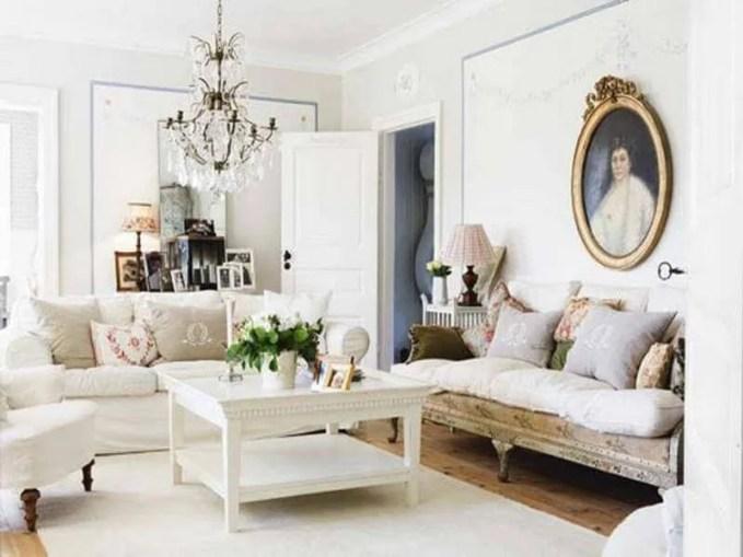 White boho Chic Living Room