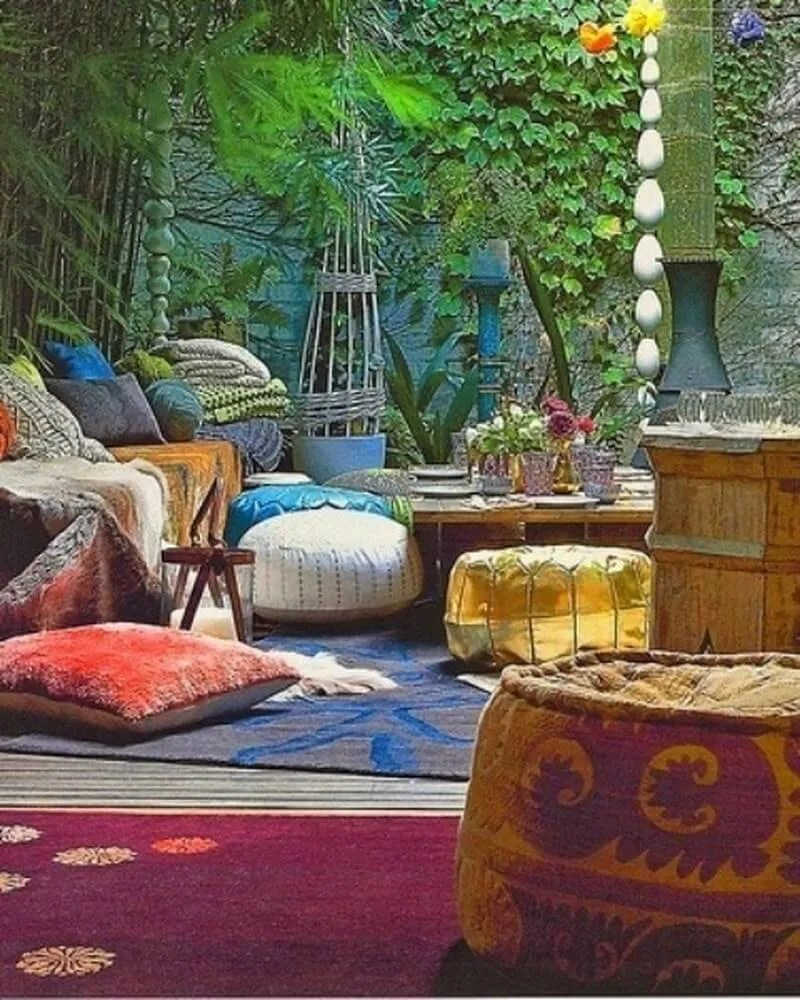 Nice Bohemian Patio Design