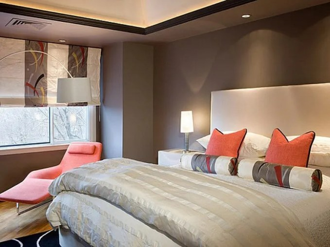 grey-cream-and-coral-bedroom