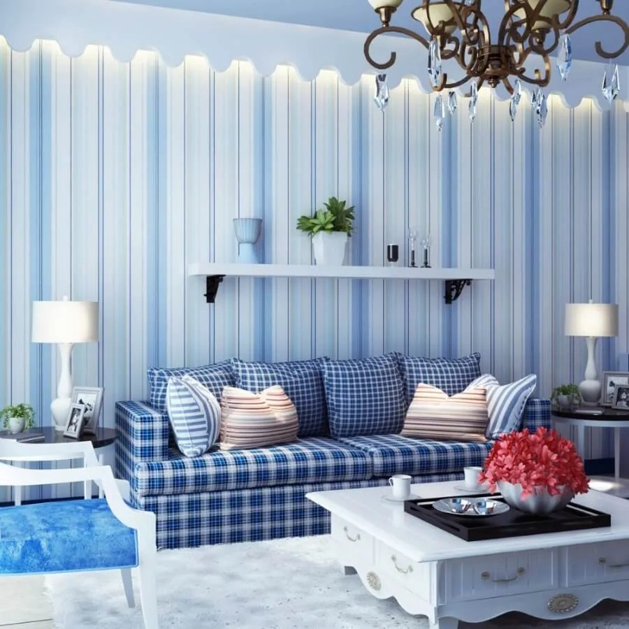 10 Modern Living Room Interior Design Ideas With Striped Walls