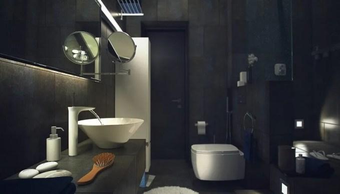Glossy Black Bathroom