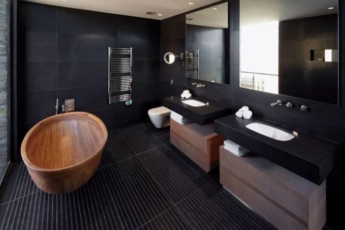 Natural Black Bathroom