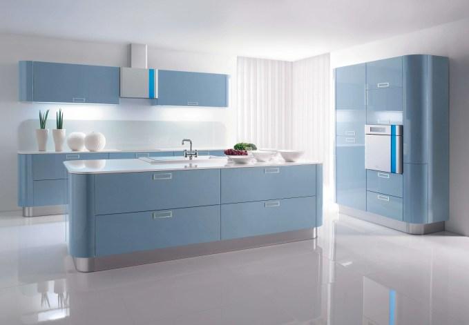 Serene Blue Kitchen
