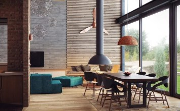 10 Dramatic Industrial Dining Room Interior Design Ideas