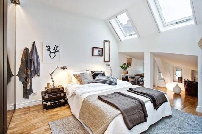 Attic Eclectic Bedroom