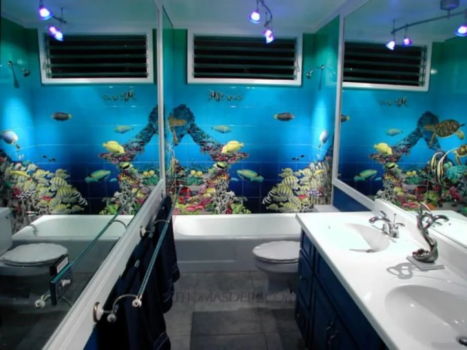Bold Beach Inspired Bathroom