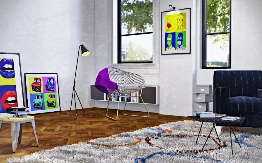 Bold Pop Art Living Room