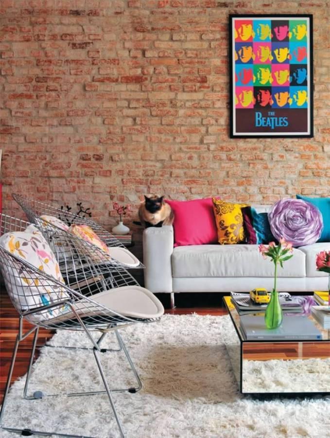Cozy Pop Art Living Room