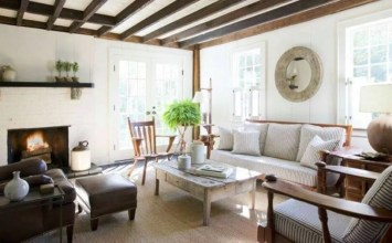 10 Cozy Living Room Interior with Exposed Roof Beam Design Ideas