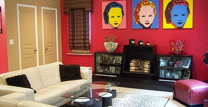 Red Pop Art living Room