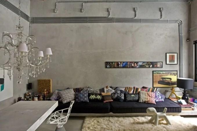 Sleek Industrial Modern Living Room