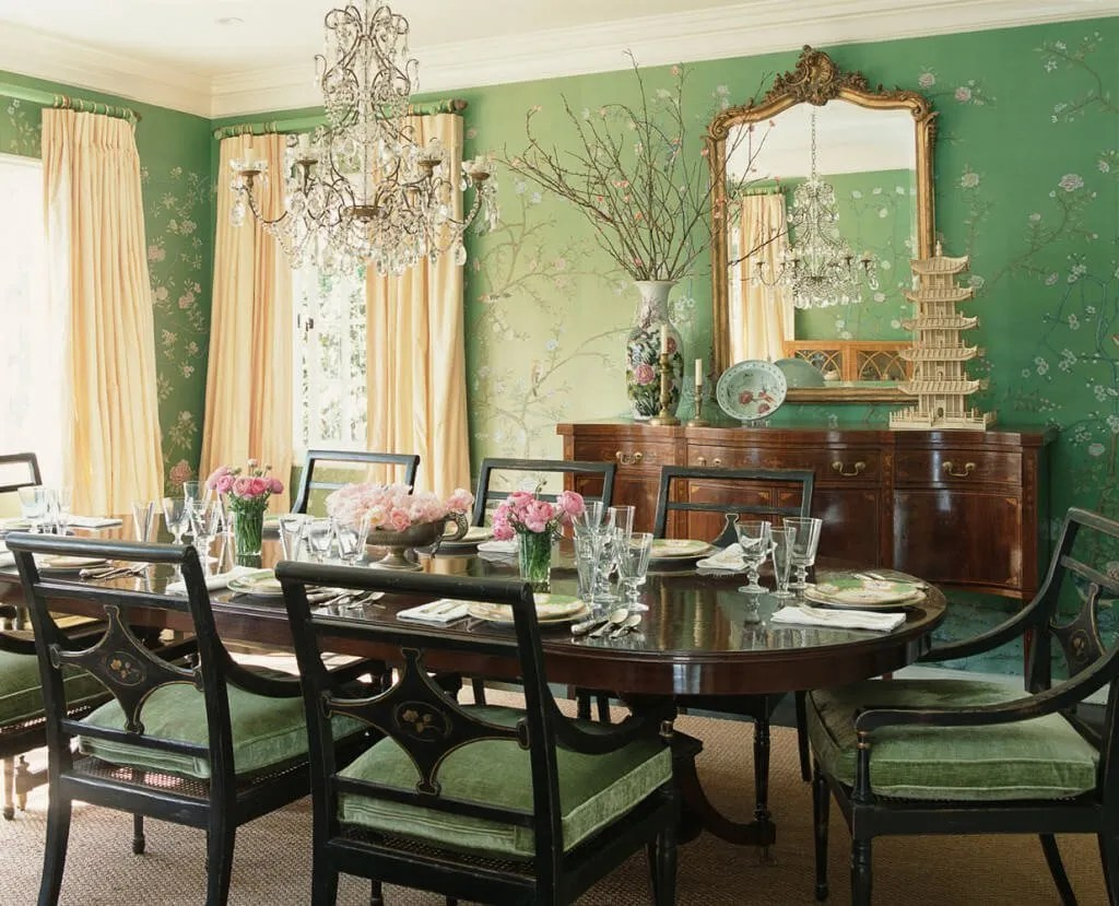 Green dining room design - Splendid Green Dining Room