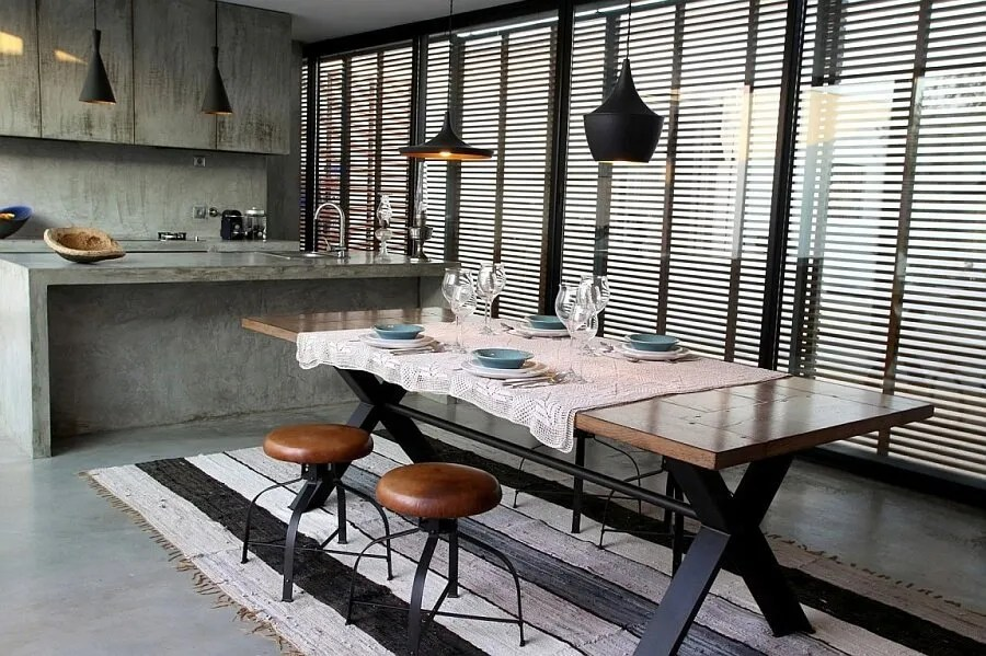 10 Dramatic Industrial Dining Room Interior Design Ideas - https ...