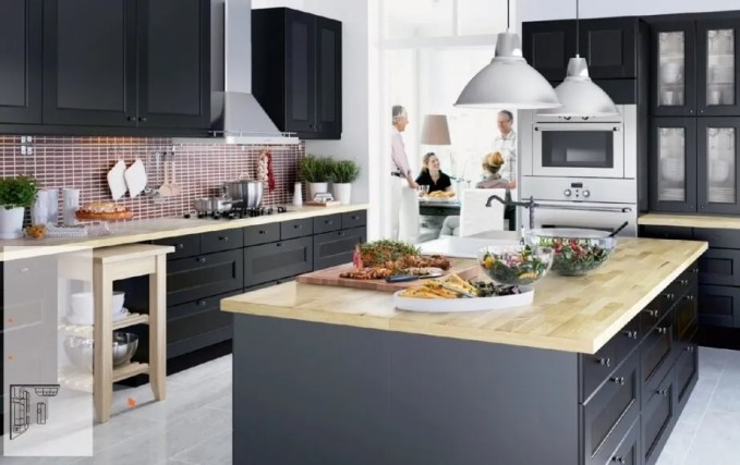 Black Ikea Kitchen