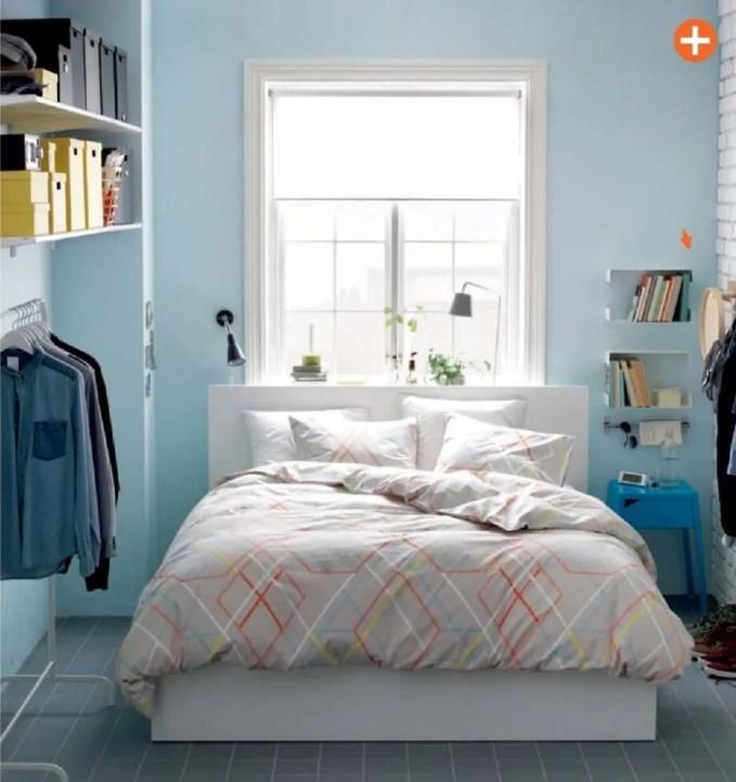Blue Ikea Bedroom