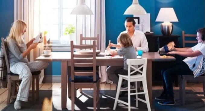 Family Ikea Dining Room