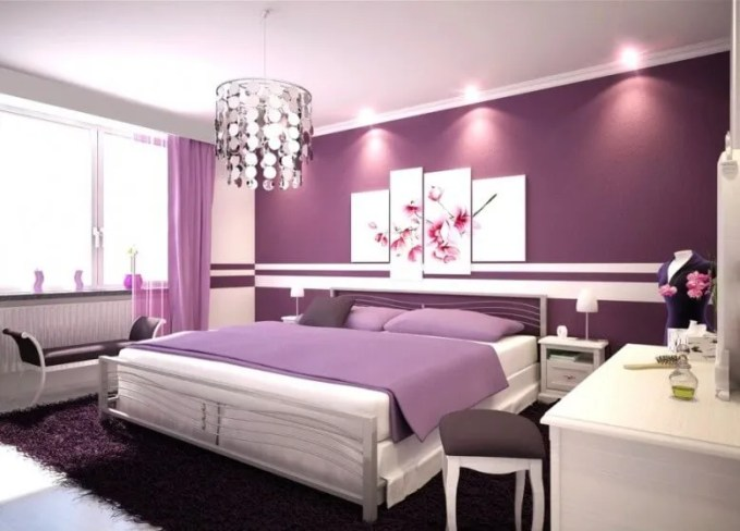 Modern Purple Teenage girl bedroom idea