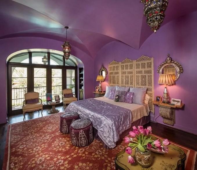 Purple Moroccan Bedroom