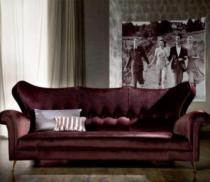 Velvet Vintage Sofa