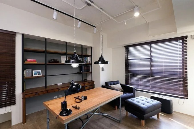 Contemporary Indsutrial Home Office