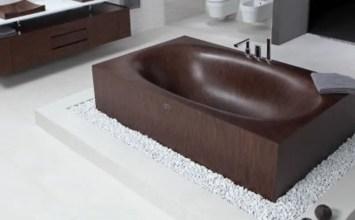 Top 8 Natural Wooden Bathtub Design