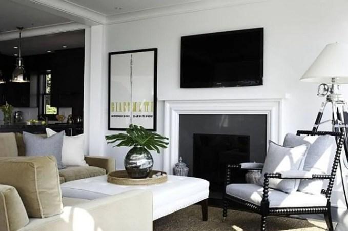 Modern Green and White Living Room