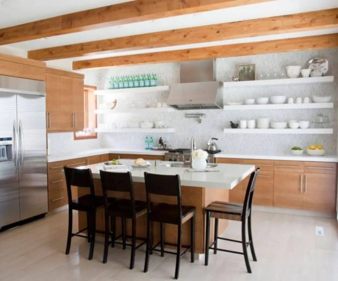 Rustic Kitchen With Open Shelving
