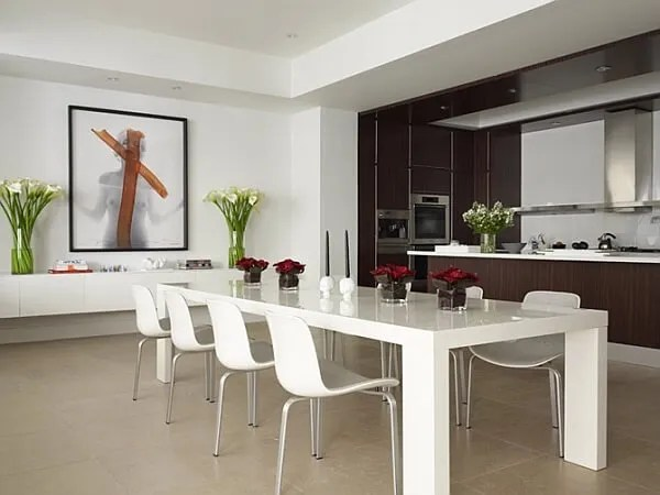 Sleek Minimalist Dining Room