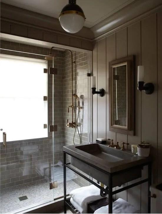 Striking Indsutrial Bathroom