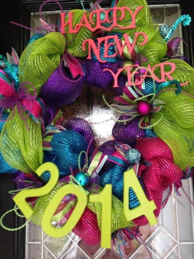Dramatic NEw Year Wreath