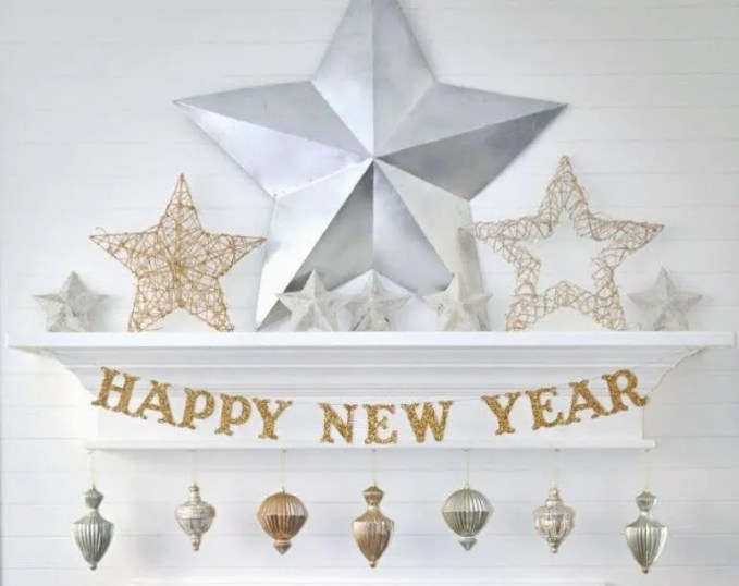 Glittery New Year Sign
